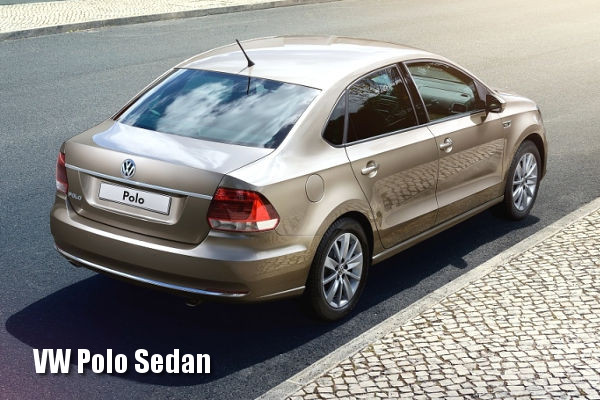 Volkswagen Polo Sedan сзади