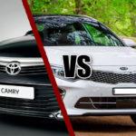 Сравнение КИА Оптима и Тойота Камри, что лучше