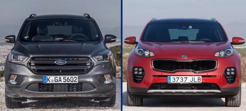 Сравнение форд куга и киа спортейдж 2016